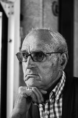 Sober (aitorgonzal.es) Tags: canon 100d sober people old grandfather street photography black bw portrait 50mm spain galicia afternoon white yongnuo