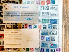 Radio-Canada Expo67 Centennial QSL (byzantiumbooks) Tags: werehere hereios stamps canada qsl expo67