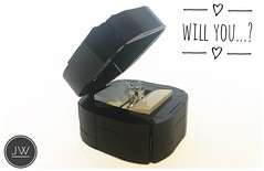 Will you..?   New Lego box. (jarekwally) Tags: will you marry me lego moc silver chrome black diamond wallyjarek jarekwally jw box engagement ring