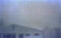 (erinjanerin) Tags: winter snow film church analog 35mm cross snowstorm upstate rochester analogue canonae1 expired kodak400