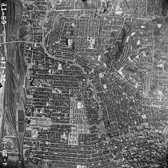 1949 Aerial photo of Cincinnati's West End (mgsmith) Tags: ohio geotagged cincinnati aerialview aerial westend 1949 urbanrenewal aerialphotograph unionterminal centralparkway cuf queensgate laurelhomes