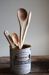 a collection (hannah * honey & jam) Tags: oatmeal woodenspoons honeyjam steelcutoats irishoats smallwoodenspoon collectionofspoons honeyandjam hannahqueenphotography