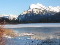 Mount Rundle (iwona_kellie) Tags: travel winter holidays visit banff mountrundle banffnationalpark vermilionlakes