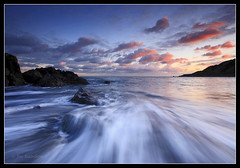 Manacles rush (Joe Rainbow) Tags: sunset sea seascape motion water clouds landscape rush
