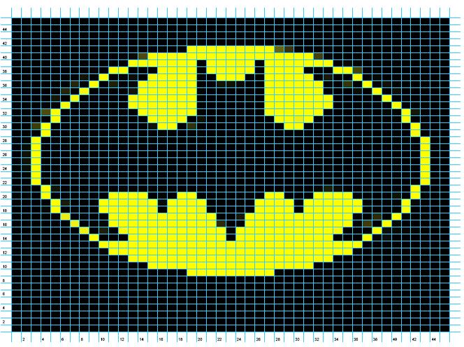 Ravelry: Batman Logo Chart pattern by Elizabeth Thomas