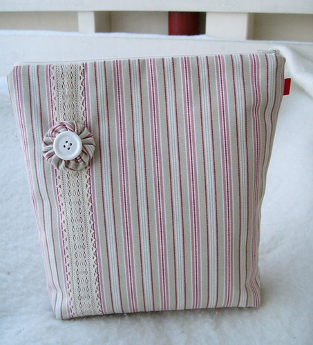 Cosmetic bag i thicking stripe A