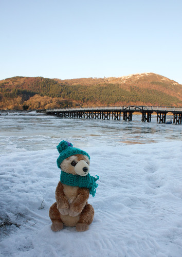 Maurice poses by the toll bridge