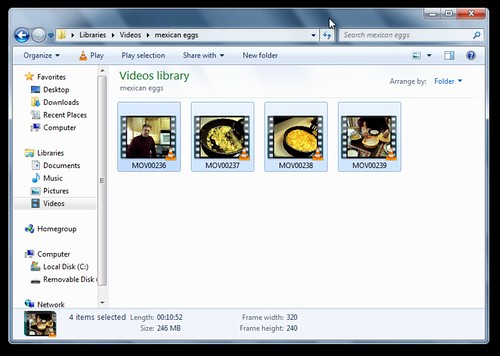 Copy videos from your camera into your Videos library