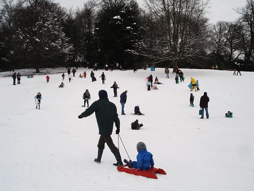 sledging at kenwood, saturday pm