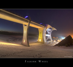 Falkirk Wheel at Night (Kit Downey) Tags: longexposure winter water modern night canon scotland scottish engineering sciencefiction iconic hdr futuristic industial falkirk stirlingshire falkirkwheel photomatix anawesomeshot tokina1116mmf28 bestofmywinners kitdowney