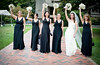 black bouquet white bridesmaid style black bridesmaid style wedding photo