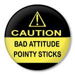 Caution bad attitude pointy sticks (Zippy Pins) Tags: pull sticks knitting funny keychain humorous pin pointy buttons bad knit saying pins yarn attitude badge caution button zipper zippy knits amusing badges needles magnet sayings clever witty pinback irreverent pinbacks