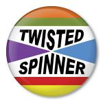 Twisted Spinner (Zippy Pins) Tags: wool wheel pull funny keychain humorous pin buttons spin saying pins drop yarn badge spinning button zipper zippy amusing badges spindle magnet twisted sayings roving spinner clever witty pinback spins batt irreverent pinbacks