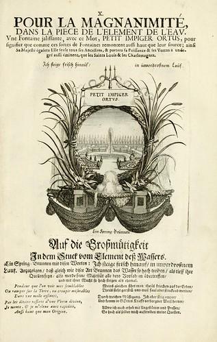 013-- Divisa del tapiz el agua para la magnanimidad-Tapisseries du roy, ou sont representez les quatre elemens 1690- Sebastien Le Clerc