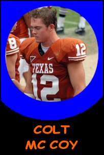 Pictures of Colt McCoy!