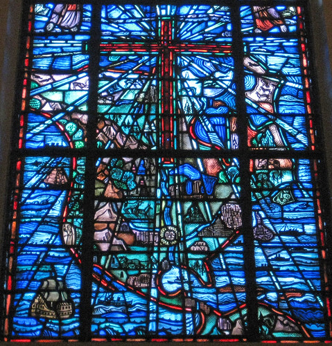 North America Stained Glass Window