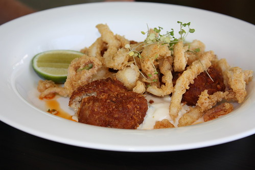 Crab Cakes and Calamari