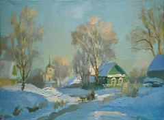 . .  . 2010, 3545, .. (Dmitry Samodranov) Tags: winter art painting landscape scenery russia exhibition painter impressionism oils realism      ruralrussia    samodranov
