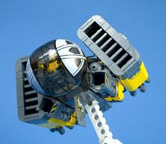 Hornet Bomber - 14 (Happy Weasel) Tags: yellow lego space hornet bomber moc starfighter
