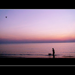 SHE AND HER DOG (DEVENDRA PAL(AWAY)) Tags: india beach photography pal devendra topseven abigfave thesuperbmasterpiece