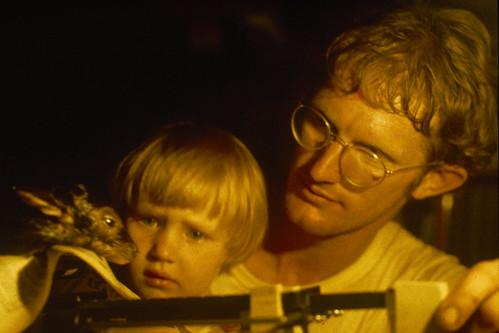 John and Sarah weighing duiker