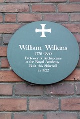 Photo of William Wilkins green plaque