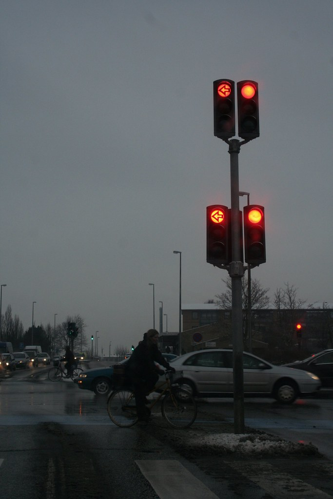 Crossroads and red light