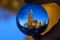 Westerkerk, Amsterdam - The Netherlands. Crystal ball (kees straver (will be back online soon friends)) Tags: street city bridge light sky urban holland reflection building tower church window water netherlands girl dutch amsterdam bike bicycle architecture night clouds canon eos boat canal europe nederland thenetherlands lookingup sphere refraction 5d prinsengracht kerk hdr annefrank jordaan crystalball markii rembrandtvanrijn iloveamsterdam amsterdamskyline mywinners winterinamsterdam keesstraver enjoyingthegreatweather amsterdamcanbesobeautiful churchonbluecanvas reflectingthelight