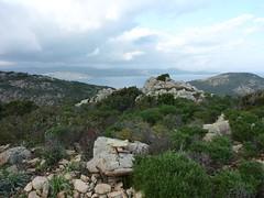 Baie de Santa Manza (Sant'Amanza) depuis la tour sur la presqu'île