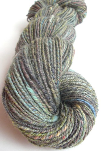 free gift from Fluff-n-Stuff 50g merino, cashmere, nylon, corriedale, BFL very soft stuff - navajo plied - 51g batt ~ 155yds-2