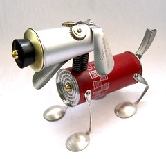 Fireball 470 - Found Object Robot Dog Assemblage By Brian Marshall (adopt-a-bot) Tags: show old fiction red sculpture anime art cup kitchen goofy monster collage metal museum trash vintage movie fun toy found toys design robot junk aluminum funny artist comic gallery technology geek tech transformer recycled handmade folk outsider antique assemblage object space brian alien cartoon craft fork can science retro marshall robots gift future present blender fi meter unusual etsy recycle creature brass robotics sculptures scoop futuristic tester sci appliances volt reuse reduce reused