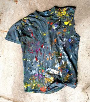 serious painter's shirt