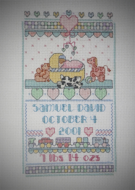 cross stitch baby gift flashback friday
