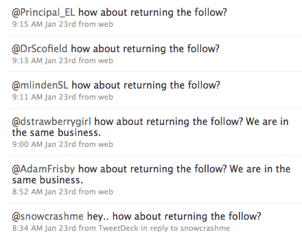 How About Returning the Follow?