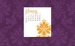 February Computer Desktop Wallpaper/Calendar