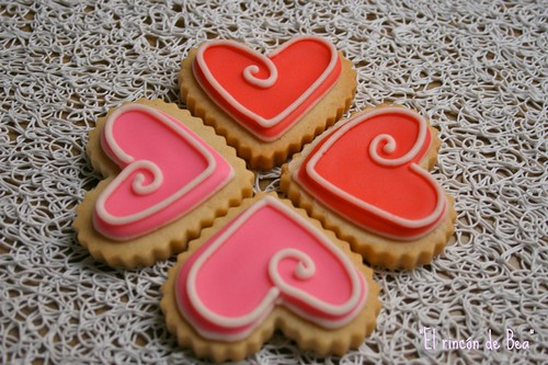 GALLETAS DECORADAS VIII (SAN VALENTÍN)