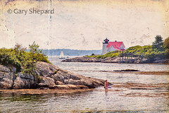 days gone by.... (Gary Shepard Photography) Tags: sea summer lighthouse water harbor memories maine dream memory coastline reverie boothbay boothbayharbor hendrickshead nelandscapes wbnawneme