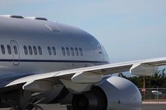 Boeing BBJ2 C-40 Wing/Side (cmorrisonphoto) Tags: plane canon monterey haiti airport nikon shot crash iii great jet landing v ii boeing takeoff iv obama vi 250 737 gulfstream bbj 100400l i c40c d5000 bbj2 t1i