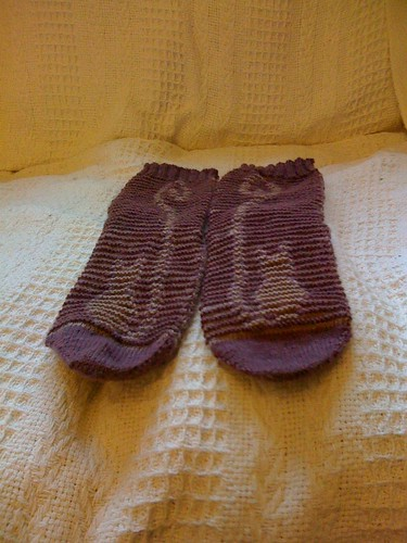 Cheshire cat illusion socks