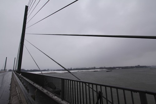 Crossing the mighty Rhein River in Germany.