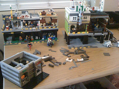 Renovations and additions on Grease Alley (steve-ivy) Tags: city lego future scifi cyberpunk