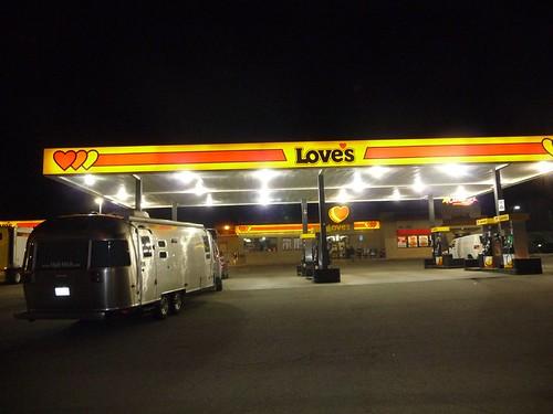 bright ass gas station!