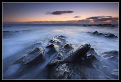 Gunwalloe Blues (Joe Rainbow) Tags: longexposure sunset seascape rocks cornwall slate gunwalloe