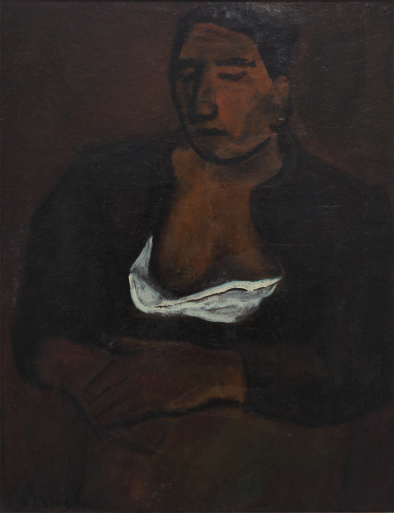 Constant Permeke, Countrywoman with Naked Breasts, 1942