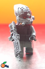 Advanced Assault Helghast (ORRANGE.) Tags: 2 lego helmet rr assault redeye custom sta 52 orrange advanced helghast killzone hig paintes