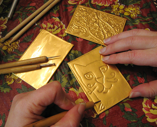 Embossing ATCs - February 6, 2010