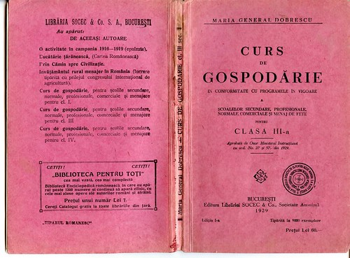 Curs de gospodarie (an 1929)