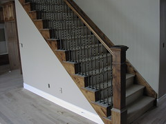 stair rail with basket style balusters built in Utah (Apex Carpentry) Tags: utah stair rail carpenter