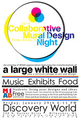 Collaborative Mural Design Night poster - MIAD January 2010