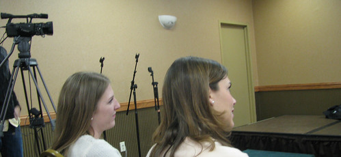 Photo of Natalie Wires & Madeline Koch at Social Media Breakfast MSP